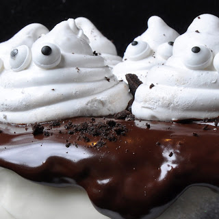 Chocolate Cake with Marshmallow Ghosts