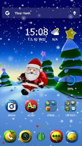 X-mas Santa eTheme Launcher screenshot 2