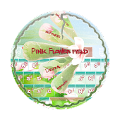 Pink Flower field GO Keyboard