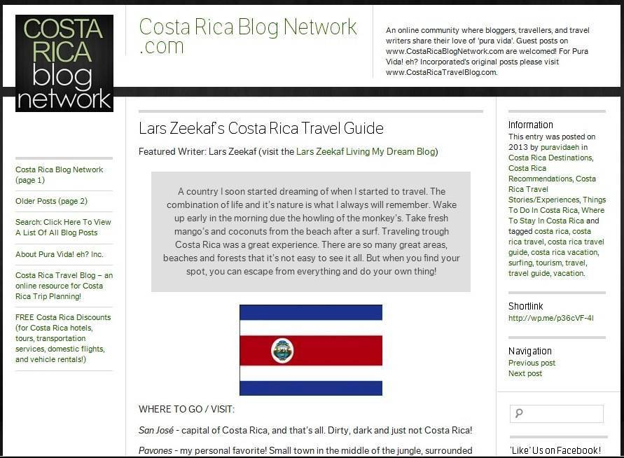 2013, February | TravelGuide Costa Rica by Costa Rica Blog Network