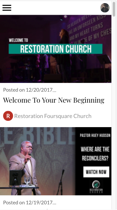 Restoration Church- screenshot