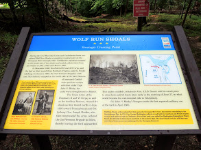 Photo: The Wolf Run Shoals Sign