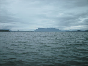 Photo: Headed northwest in Grenville Channel. From left to right: Pitt Point, Gibson Island, Kennedy Island, the mainland.