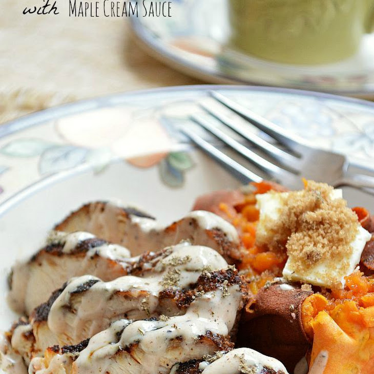 Gluten Free Cinnamon Spice Rubbed Chicken with Maple Cream Sauce