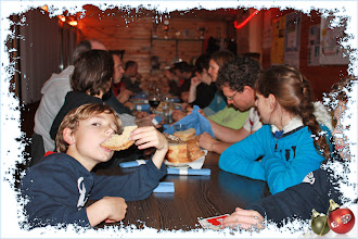 Photo: Als afsliter aten we spek met eieren en een boke in de kantine van RV Kloosterstraat.