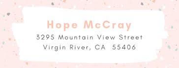 Hope McCray - Address Label template