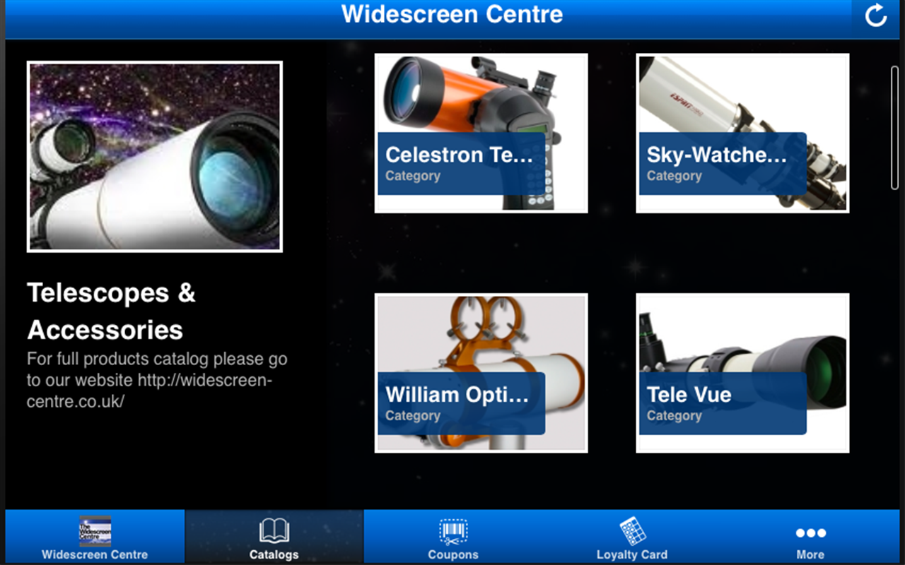 Widescreen Telescopes Centre- screenshot