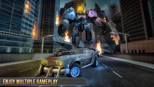Télécharger Real Gangster Robot Car Transform Game 2020 APK MOD (Astuce) screenshots 2