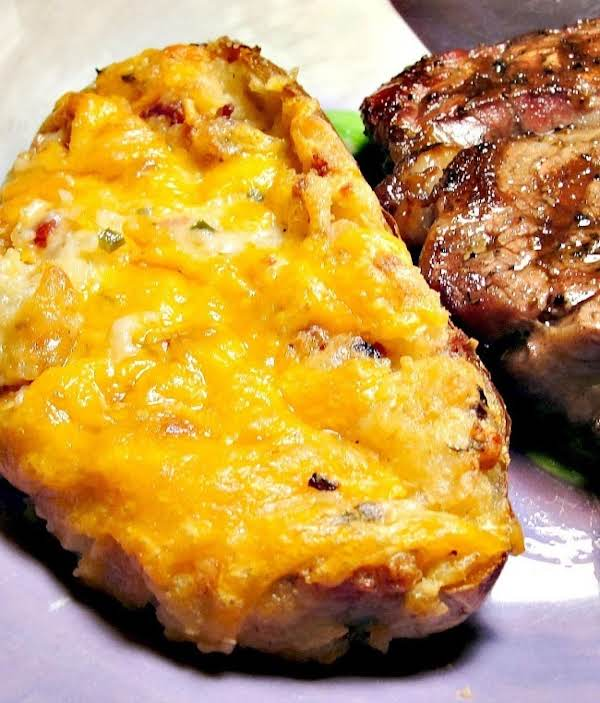 Cheesy Twice Baked Potatoes Recipe