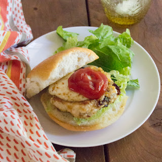 Chicken Parmesan Burger made with Foster Farms Simply Raised Chicken