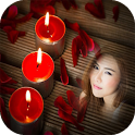 candle flame light photo frame costume editor icon