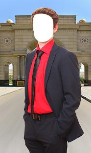 Stylish Man Suit Photo Montage - náhled