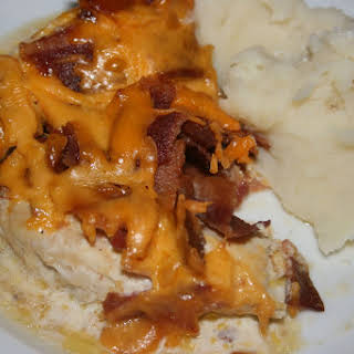 CrockPot Bacon and Cheese Chicken.