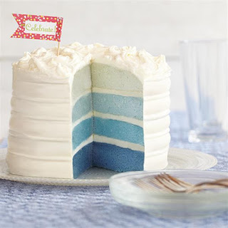 Blue Ombre Cake Recipe