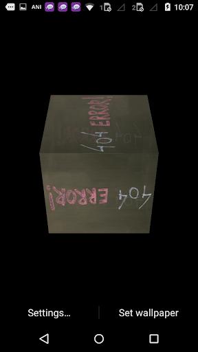 Error 3d Cube Live Wallpaper