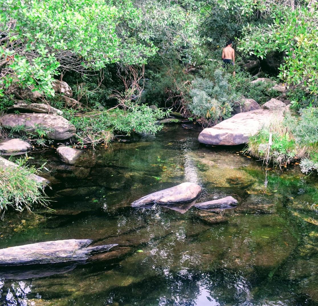 Último curso d'água na Triilha dos Escravos