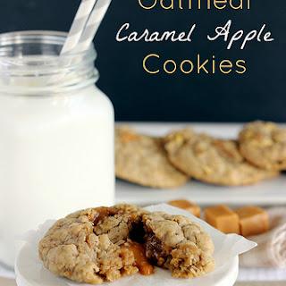 Oatmeal Caramel Apple Cookies