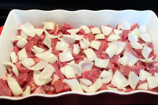 Cut roast into large cubed pieces and sprinkle the dry mixture of garlic salt,...