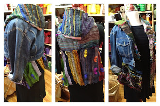 Photo: my hooded vest I sewed mostly the weaving  from 7 yrs old first ever woven cloth.