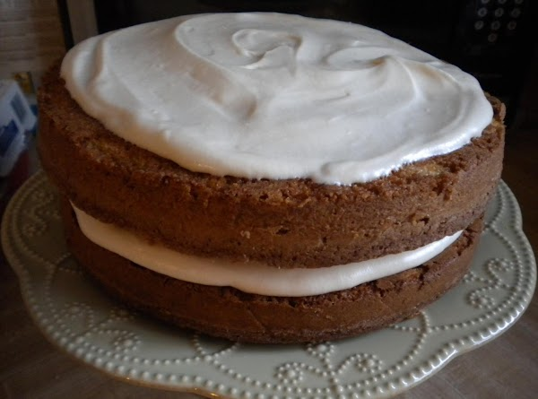 To frost place a cake layer (flat side down) on a cake plate, frost...