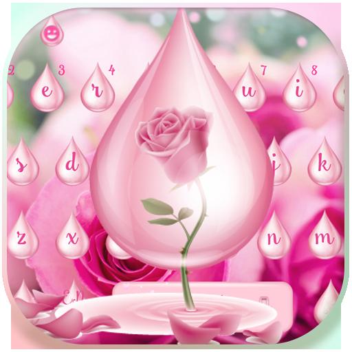 Rosado Rosa agua teclado tema