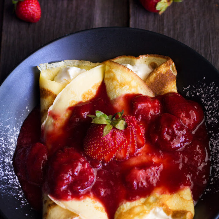 Strawberry Cream Filled Crepes