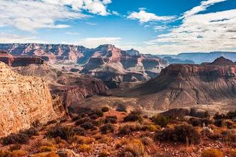 Photo: Skeleton Point, South Kaibab Trail down the South Rim of Grand Canyon National Park, Arizona, USA