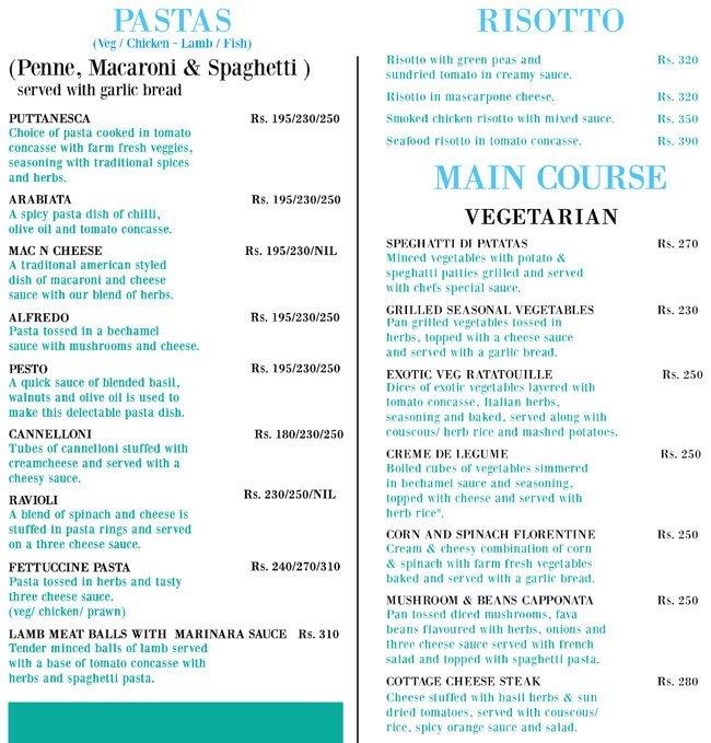 Peppermill Bistro menu 3
