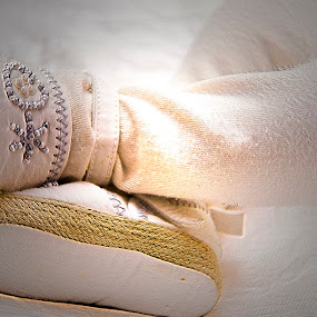 Most beautiful gift by Andreea Alexe - Babies & Children Hands & Feet ( newborn feet, shoes, baby feet, white, album cover, greeting card, light )