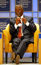 Photo: NEW YORK, 01FEB02 - Thabo Mbeki, President of South Africa, speaks during a session of the World Economic Forum at the Waldorf-Astoria hotel in New York on February, 1, 2002. Main subject of the meeting was 'Africa's Response'.