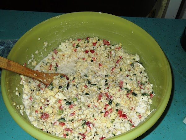 Add the red bell peppers, jalapenos, heavy cream, salt to taste, a generous amount...