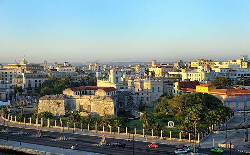 A panorama of the Old Havana skyline seen from Norwegian Sky.