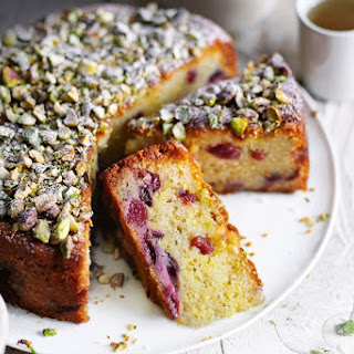 Cherry, Pistachio and Marzipan Cake Recipe