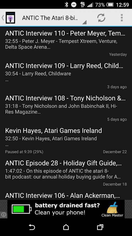 Retro Atari Podcasts- screenshot