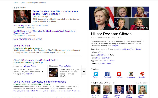 Hillary to She-Bill