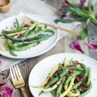 String Beans With Crispy Proscuitto &