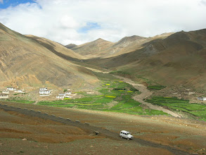 Photo: Back in civilization again after a day and night at the Pang la pass