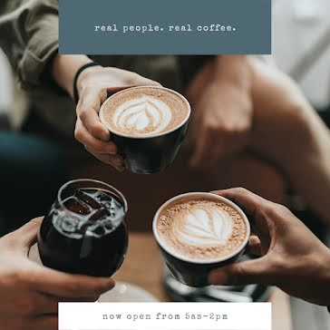 Real People & Real Coffee - Instagram Post Template