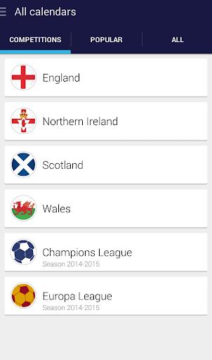 English League Fixtures