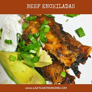 Beef Enchiladas in Red Sauce