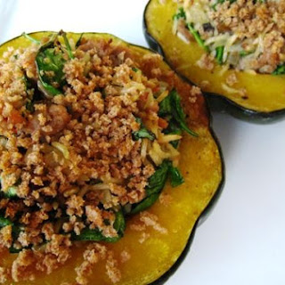 Turkey and Rice Stuffed Acorn Squash