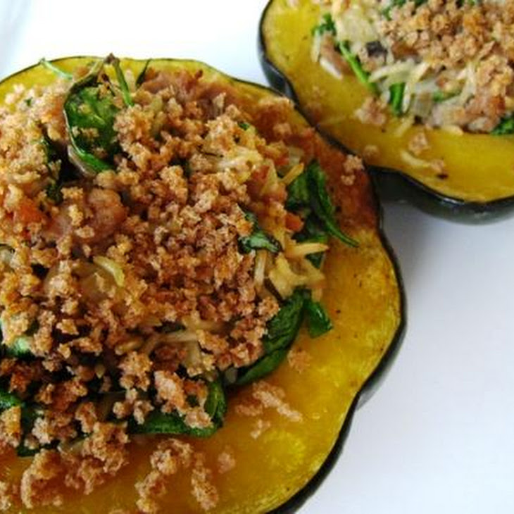 Turkey and Rice Stuffed Acorn Squash