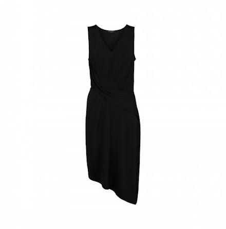 Ilse Jacobsen mid-lenght asymmetric dress black