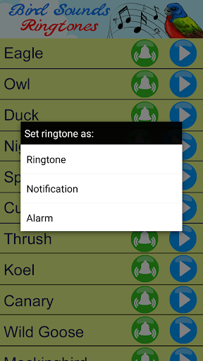 Download Bird Sounds Ringtones - Reminder App With Alarm on