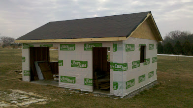 Photo: Roof decking is up...felt paper down.