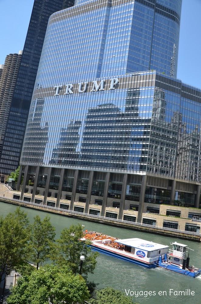 Wrigley and Trump bldg