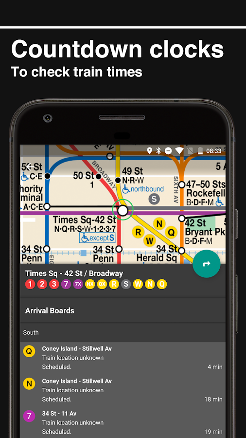 New York Subway – MTA map and routes of NYC Subway- screenshot