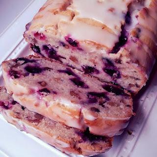Glazed Lemon & Blueberry Loaf