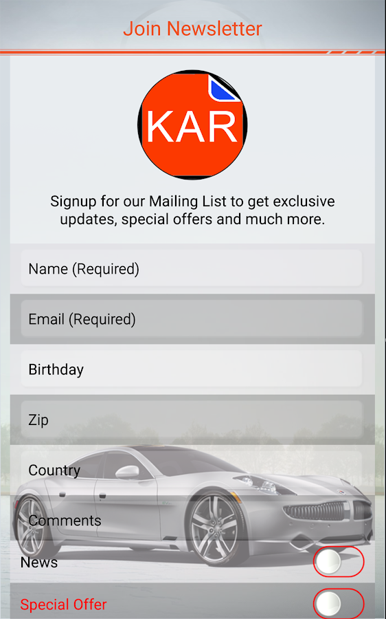 Kar Owner's Manuals- screenshot