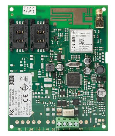 Larmsändare gemino buss GSM/GPRS kretskort